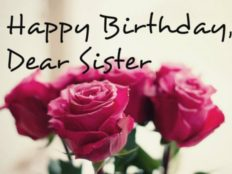 Happy Birthday dear sister! You are amazing!