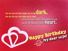 Happy Birthday my Dear Wife (card)