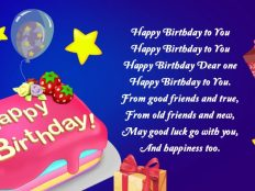 Happy Birthday picture with text congratulation