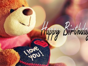Happy Birthday with Teddy Bear