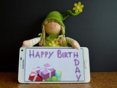 Happy birthday, Samsung toy