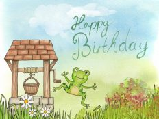 Happy birthday from a merry frog