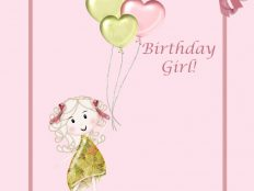 Happy Birthday, Girl illustration