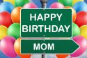 Happy birthday Mom, colorful balloons