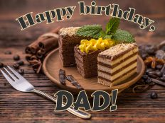 Happy Birthday, Dad! Card with wishes.